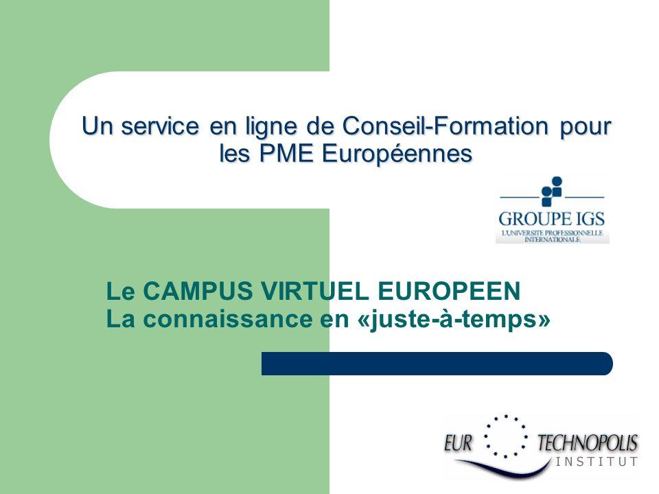 Un service en ligne de Conseil-Formation pour les PME Européennes