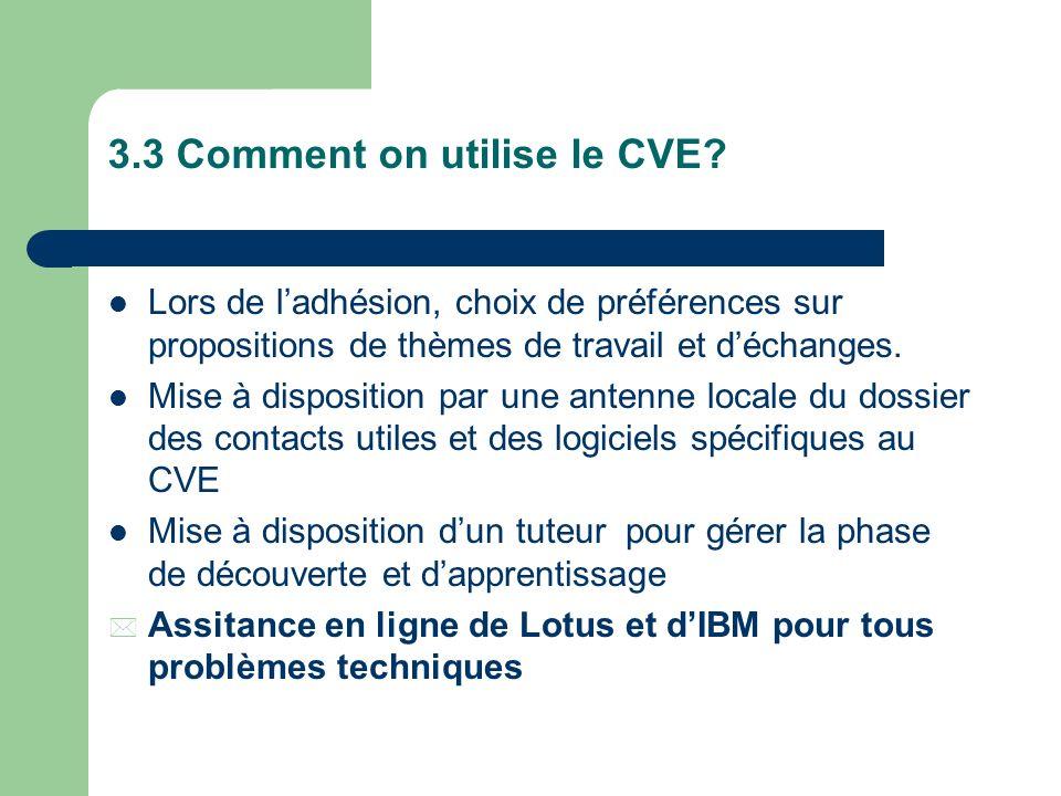 3.3 Comment on utilise le CVE