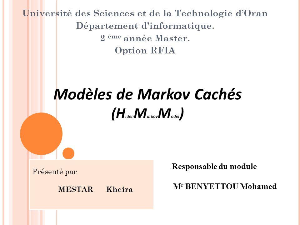 Modèles de Markov Cachés (HidenMarkovModel)