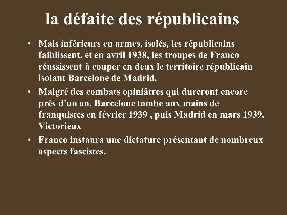 la défaite des républicains