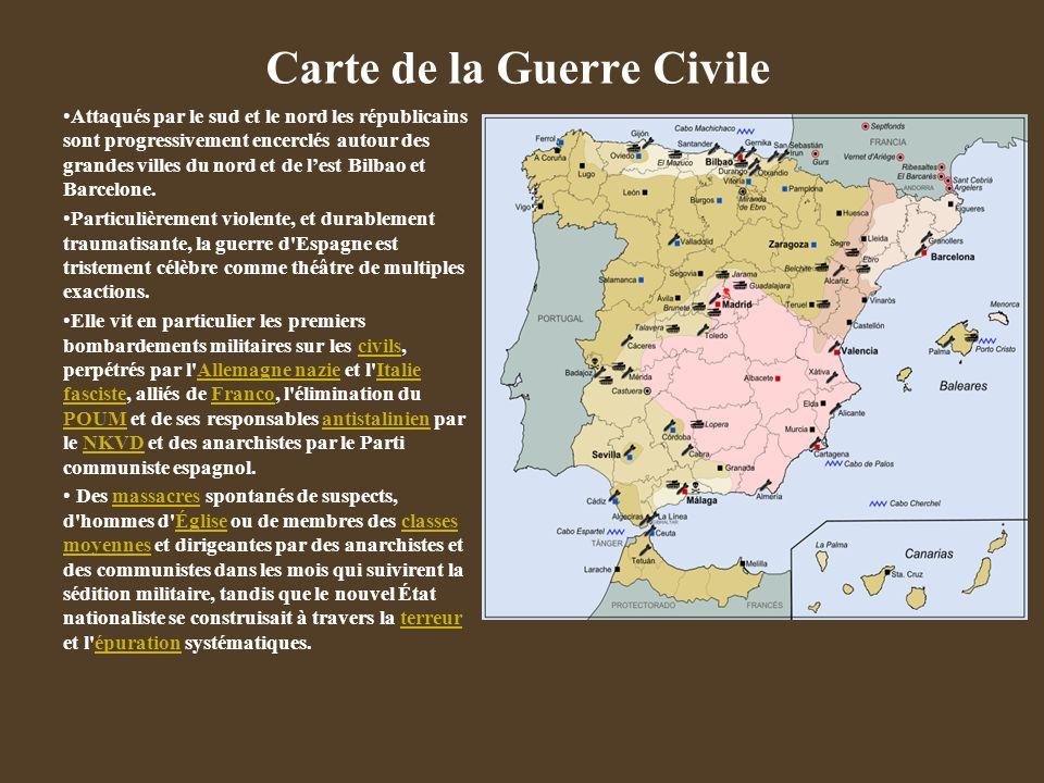 Carte de la Guerre Civile