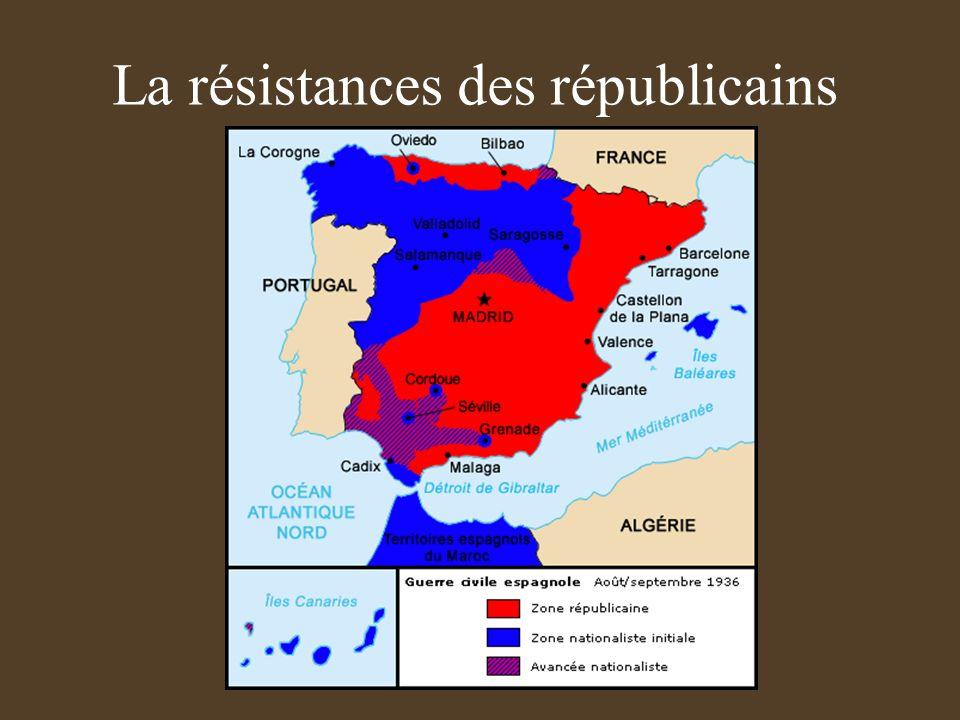 La résistances des républicains