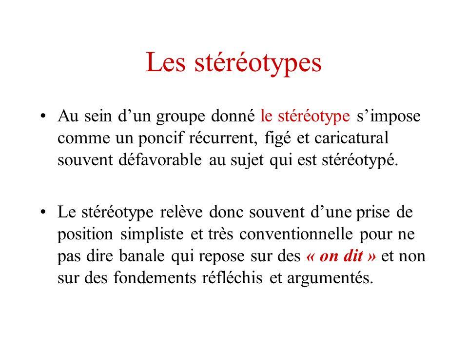 Les stéréotypes