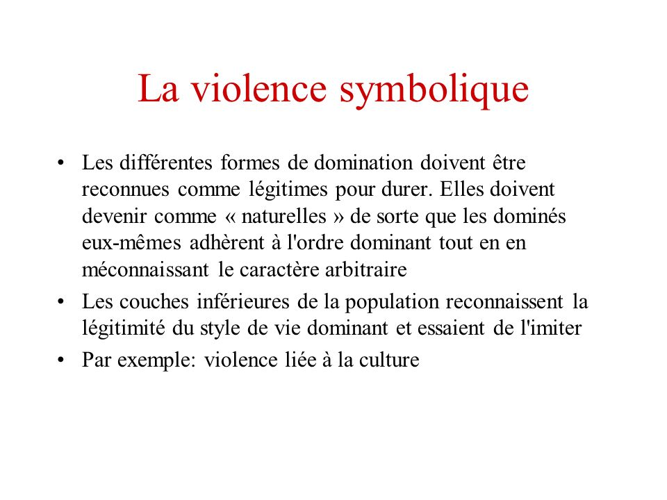 La violence symbolique