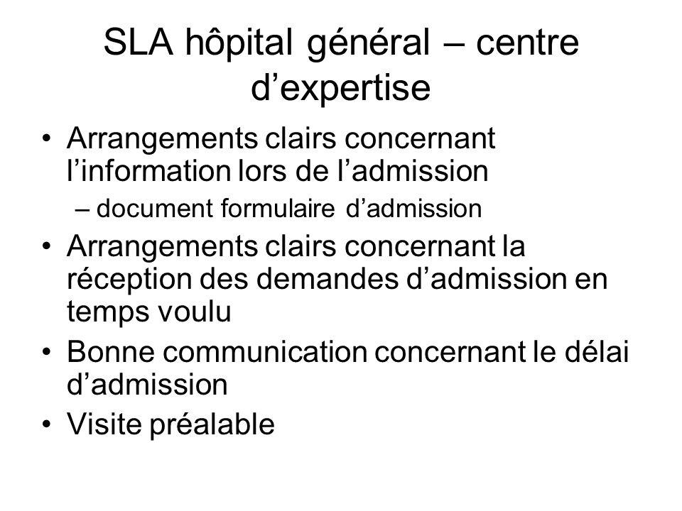 SLA hôpital général – centre d'expertise