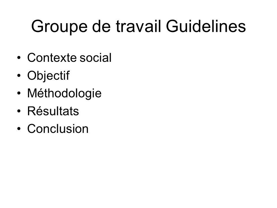 Groupe de travail Guidelines