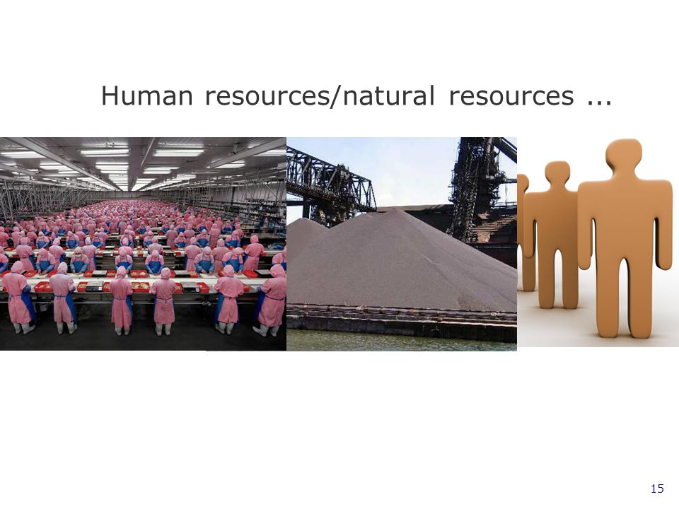 Human resources/natural resources ...