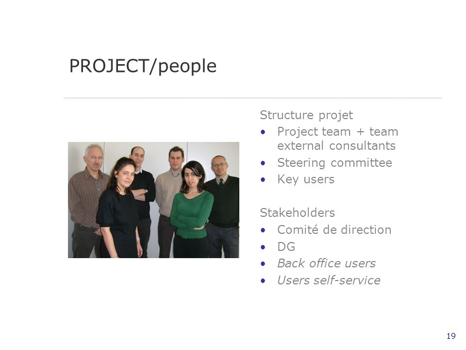 PROJECT/people Structure projet