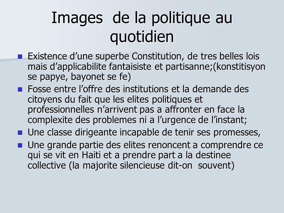 Images de la politique au quotidien