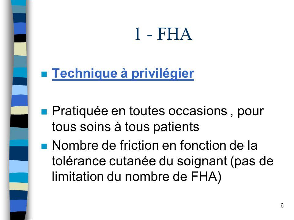 1 - FHA Technique à privilégier