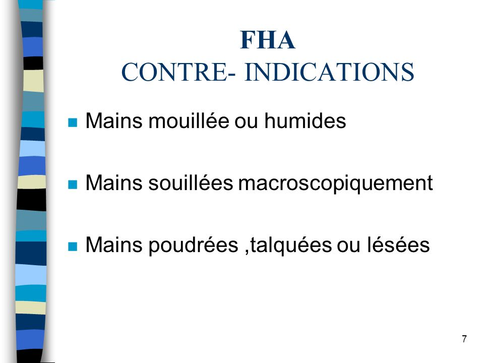 FHA CONTRE- INDICATIONS