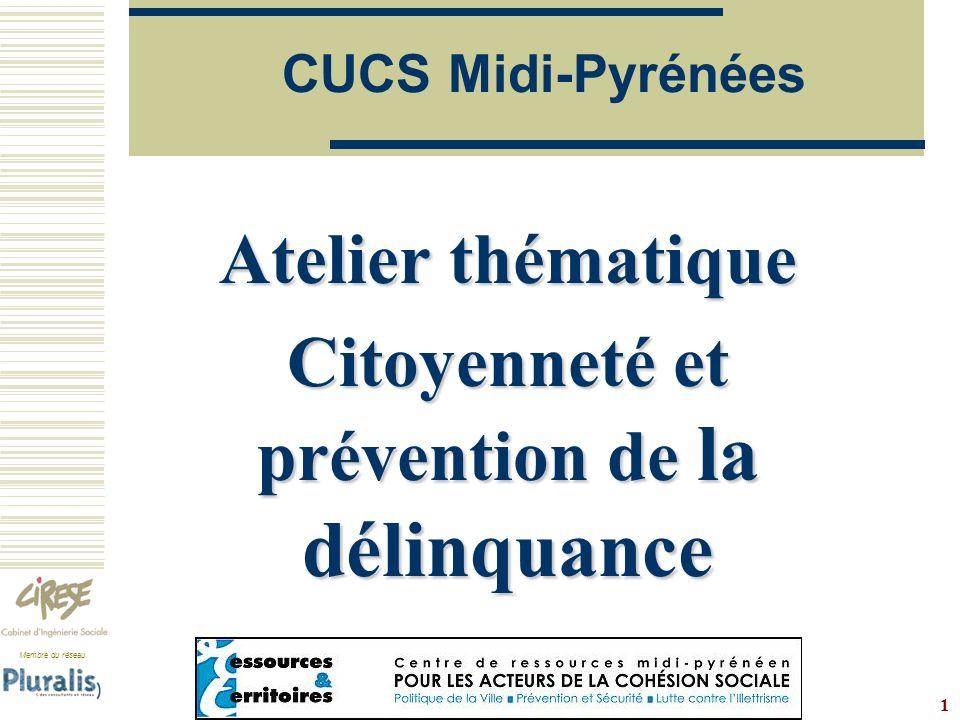 Atelier thématique Citoyenneté et prévention de la délinquance