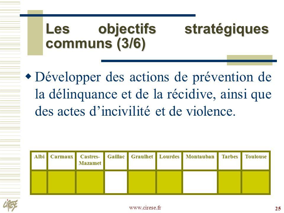 Les objectifs stratégiques communs (3/6)