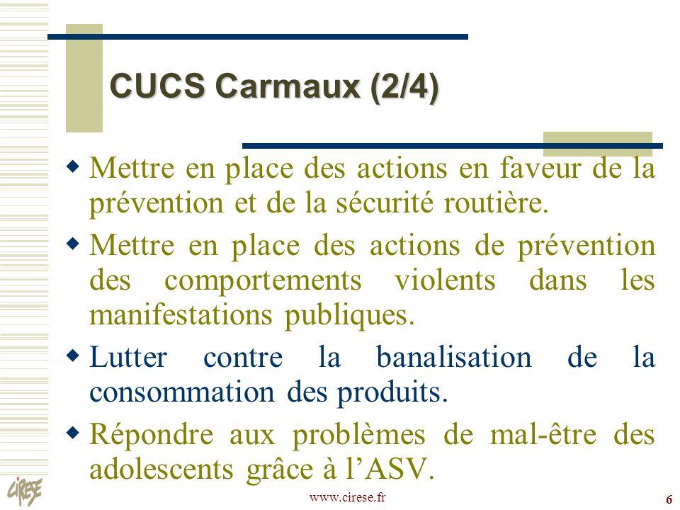 CUCS Carmaux (2/4) Mettre en place des actions en faveur de la prévention et de la sécurité routière.