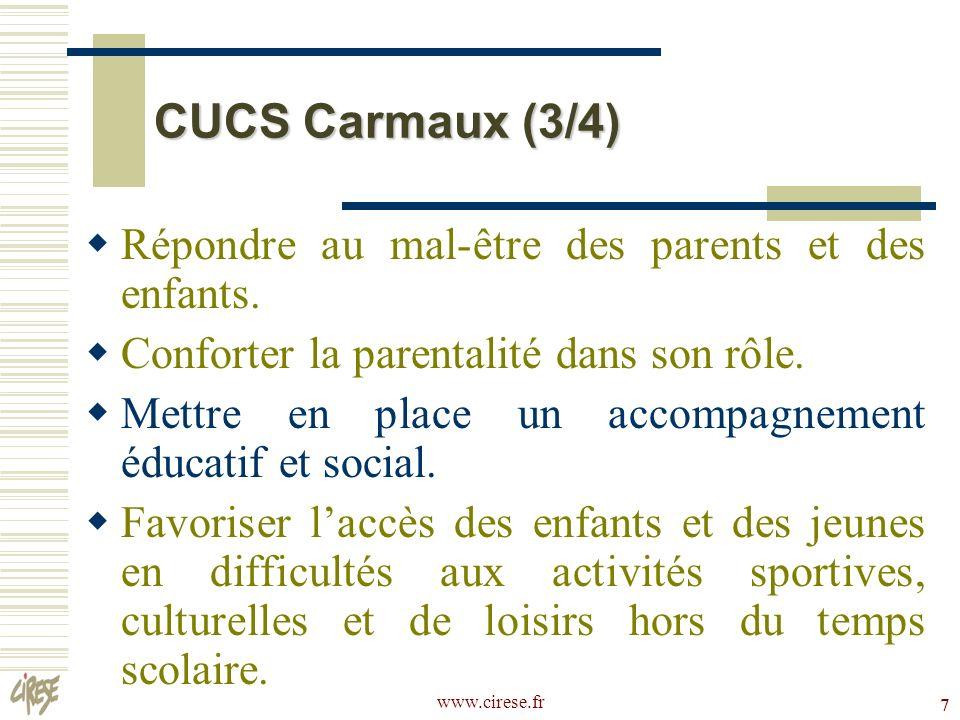 CUCS Carmaux (3/4) Répondre au mal-être des parents et des enfants.