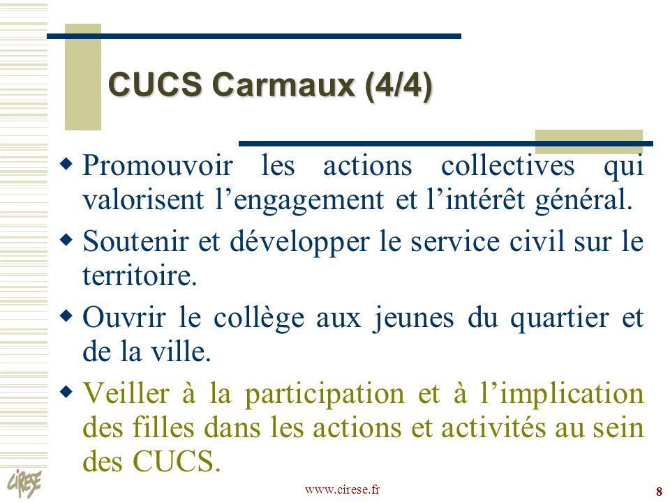 CUCS Carmaux (4/4) Promouvoir les actions collectives qui valorisent l'engagement et l'intérêt général.
