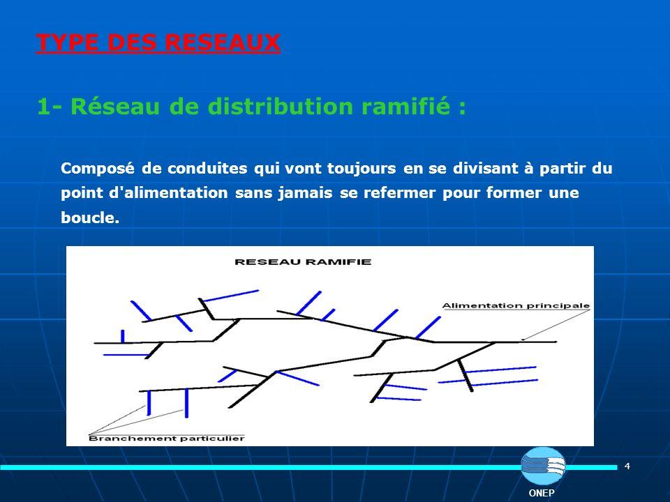 1- Réseau de distribution ramifié :
