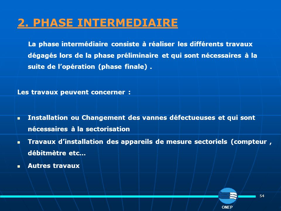 2. PHASE INTERMEDIAIRE