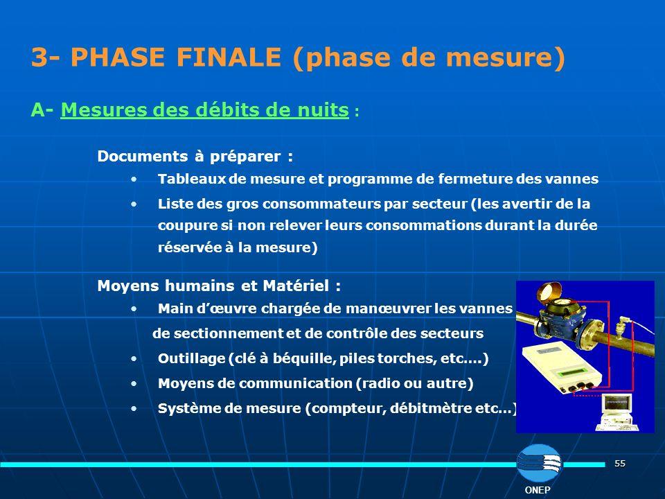 3- PHASE FINALE (phase de mesure)