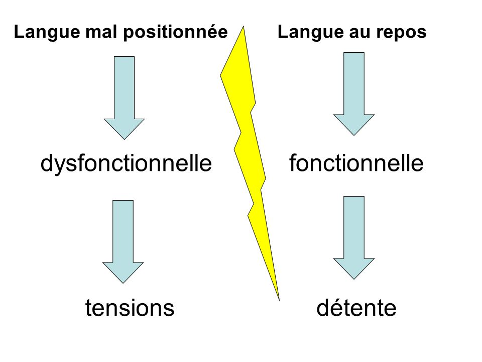 dysfonctionnelle tensions fonctionnelle détente Langue mal positionnée