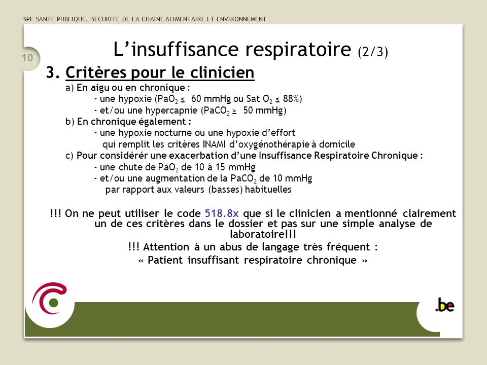 L'insuffisance respiratoire (2/3)