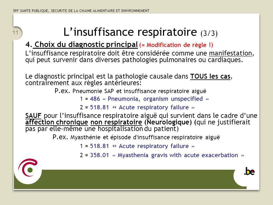 L'insuffisance respiratoire (3/3)