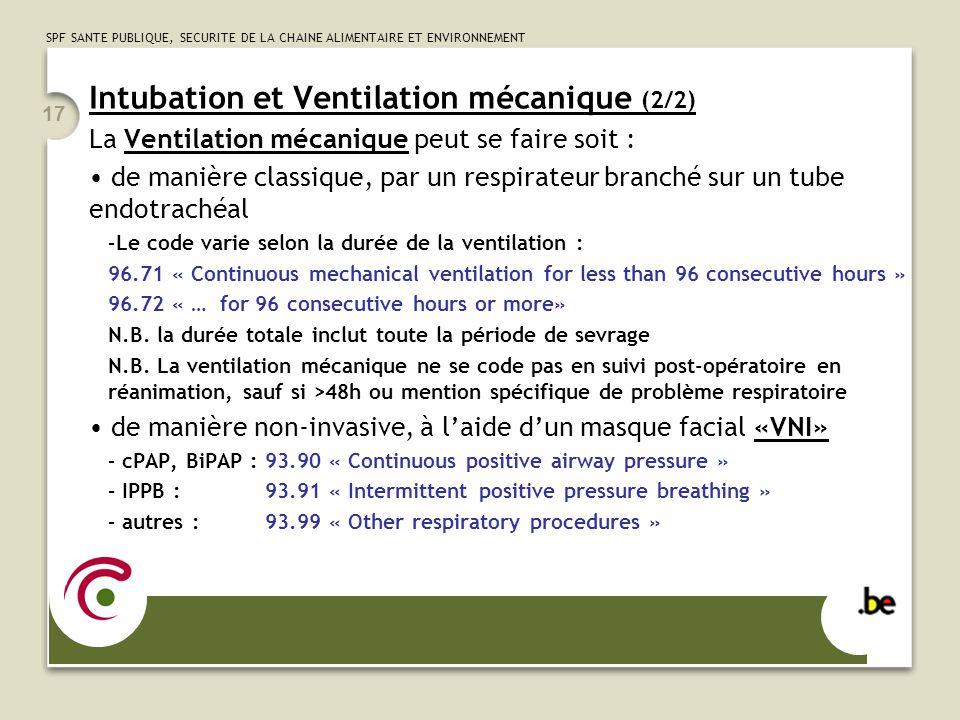 Intubation et Ventilation mécanique (2/2)