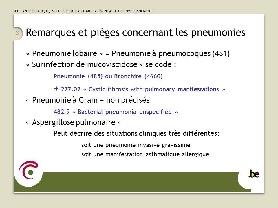 Remarques et pièges concernant les pneumonies