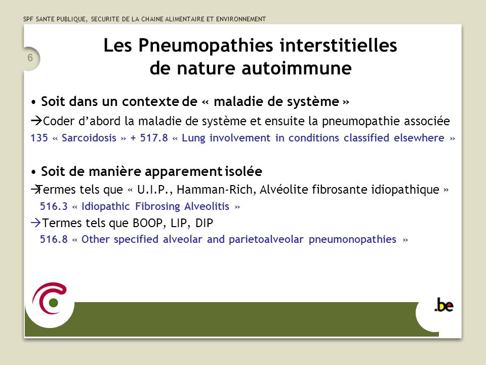 Les Pneumopathies interstitielles de nature autoimmune