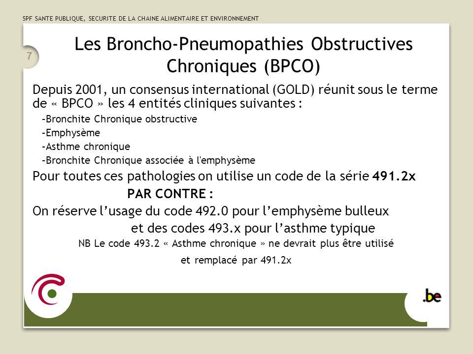 Les Broncho-Pneumopathies Obstructives Chroniques (BPCO)