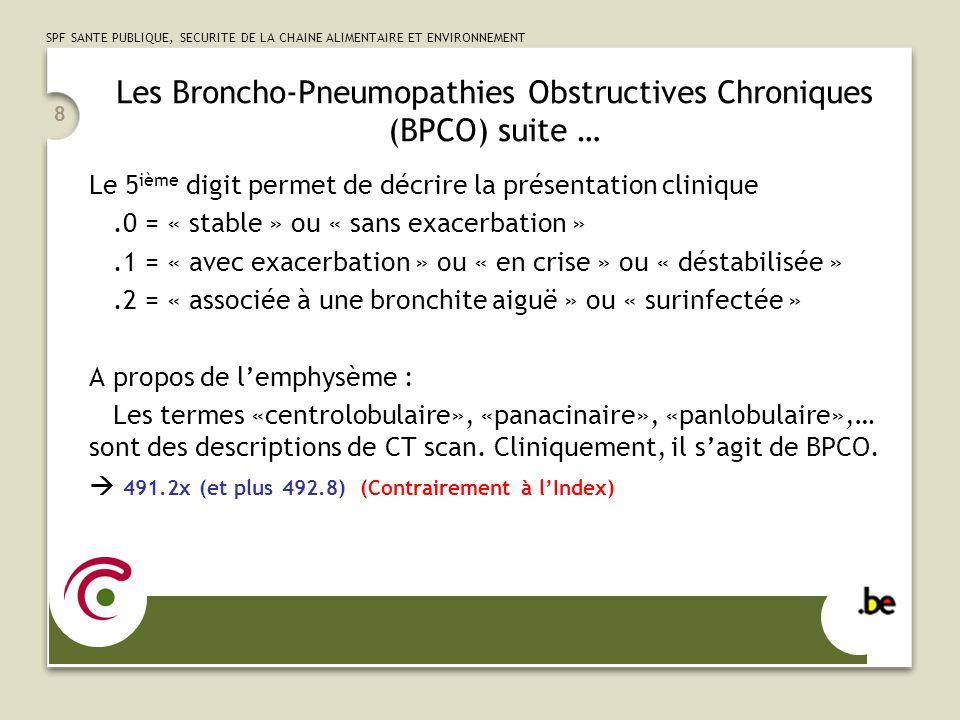 Les Broncho-Pneumopathies Obstructives Chroniques (BPCO) suite …