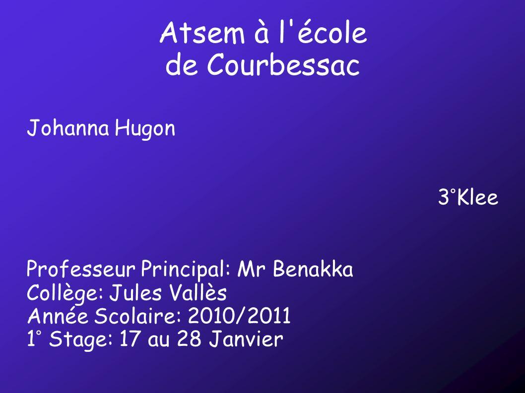Atsem à l école de Courbessac