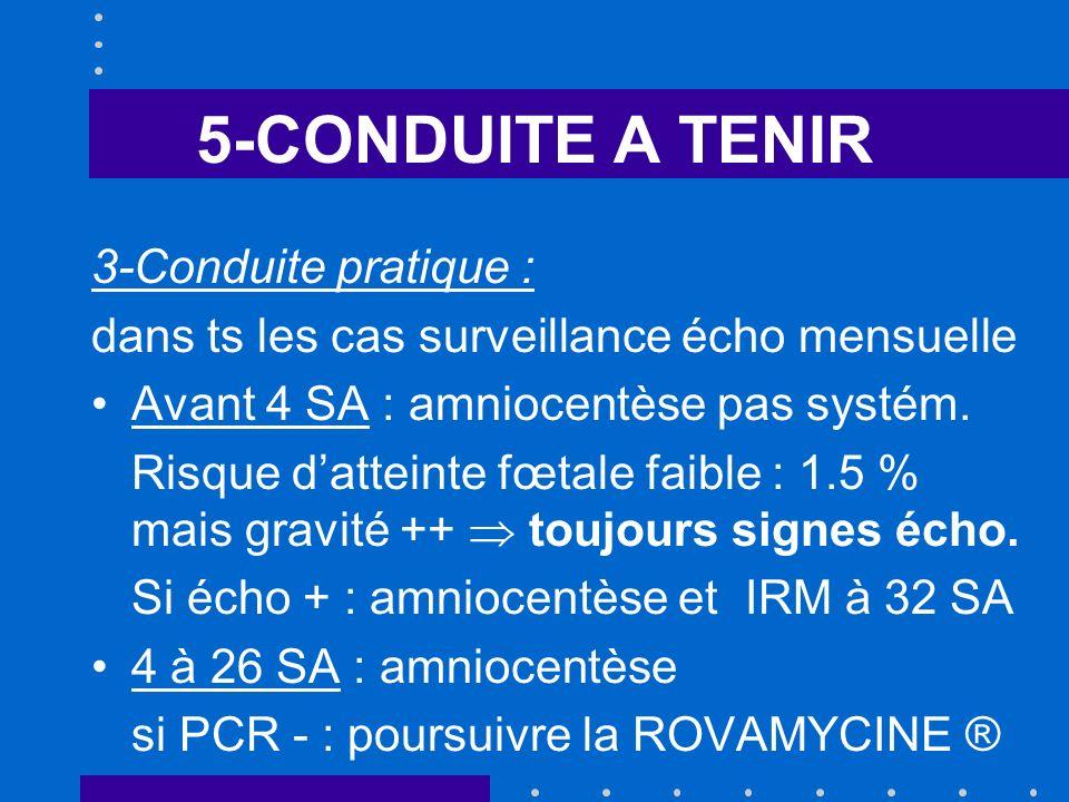 5-CONDUITE A TENIR 3-Conduite pratique :