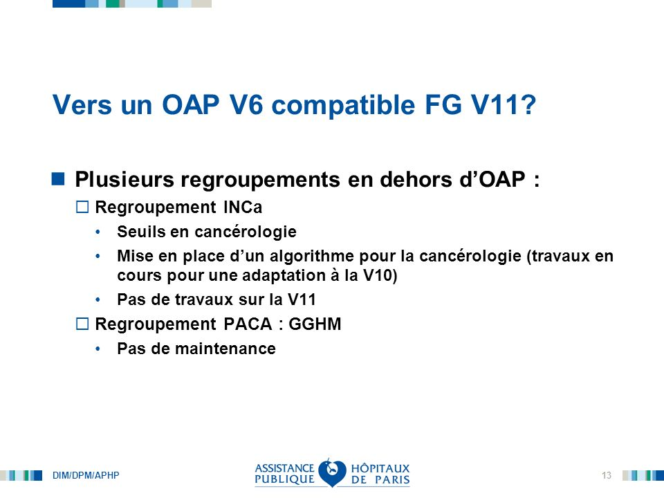 Vers un OAP V6 compatible FG V11