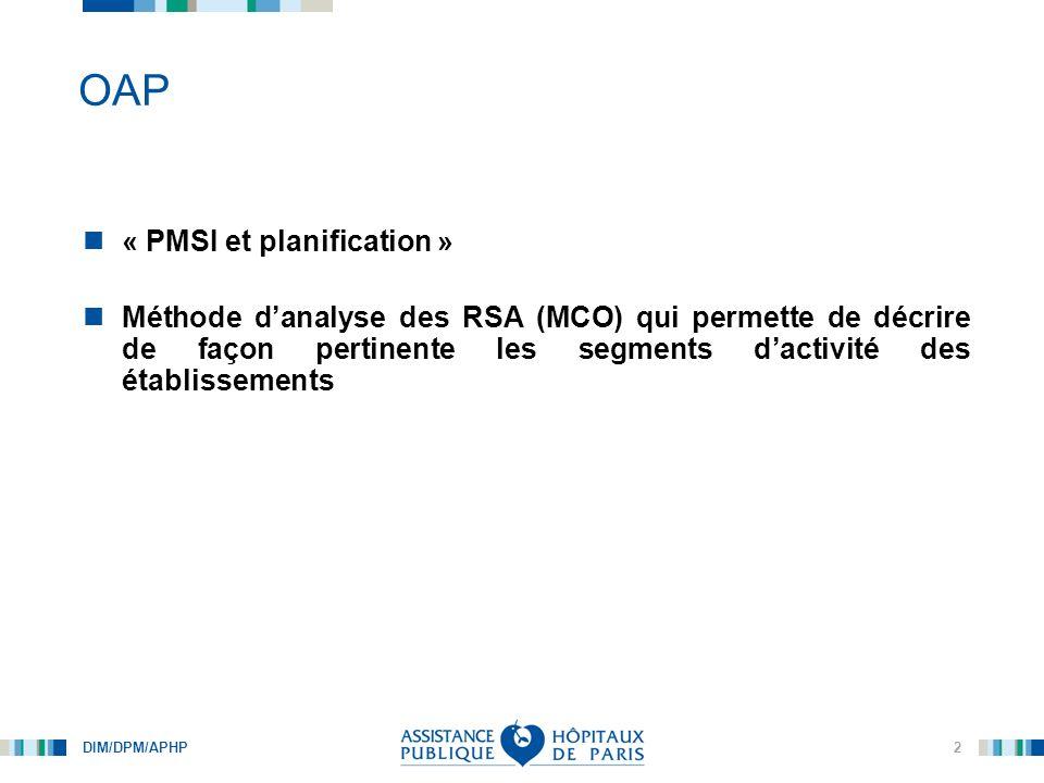OAP « PMSI et planification »