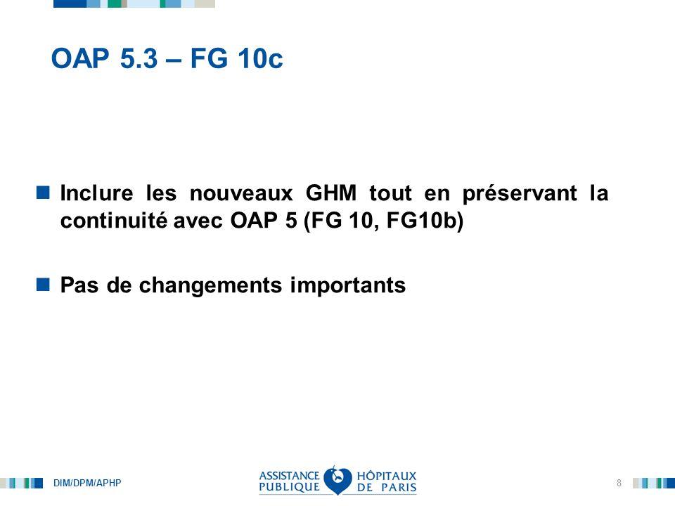 OAP 5.3 – FG 10c Inclure les nouveaux GHM tout en préservant la continuité avec OAP 5 (FG 10, FG10b)