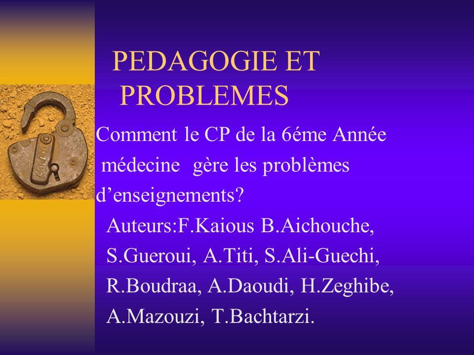 PEDAGOGIE ET PROBLEMES