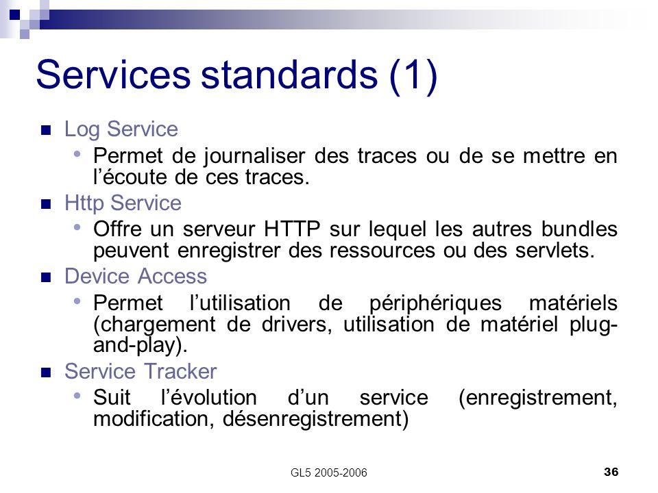 Services standards (1) Log Service
