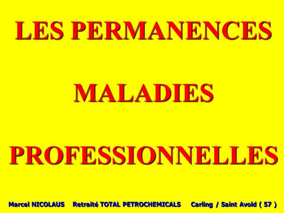 LES PERMANENCES MALADIES PROFESSIONNELLES