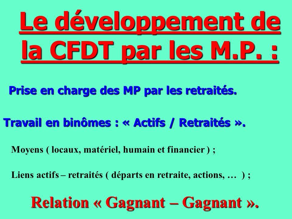 Le développement de la CFDT par les M.P. :