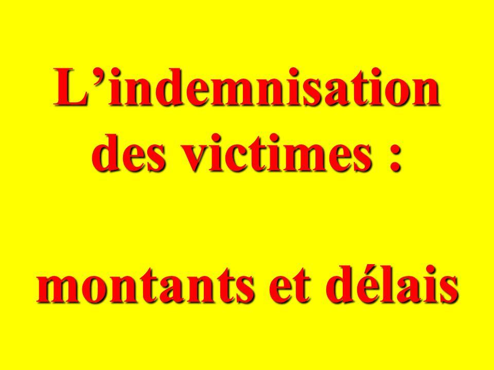 L'indemnisation des victimes : montants et délais