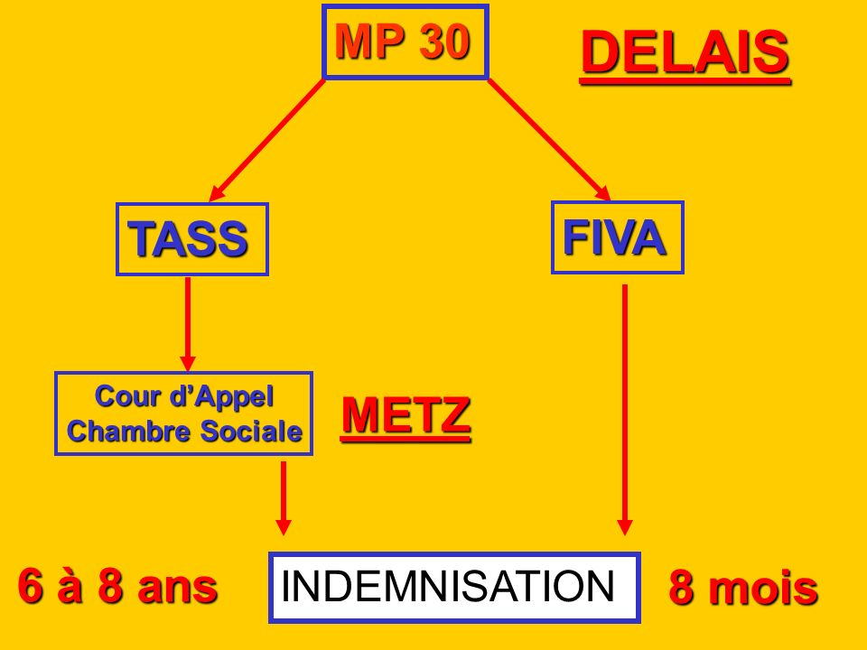 DELAIS MP 30 TASS FIVA METZ 6 à 8 ans 8 mois INDEMNISATION