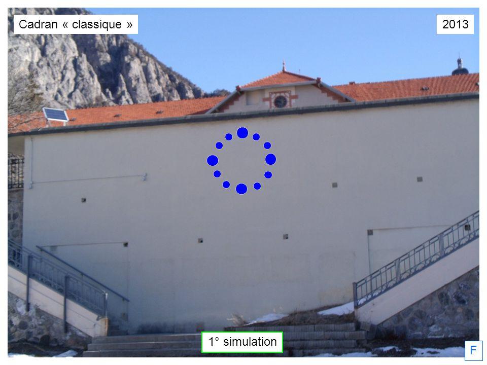 Cadran « classique » 2013 1° simulation F