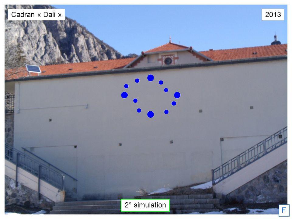Cadran « Dali » 2013 2° simulation F