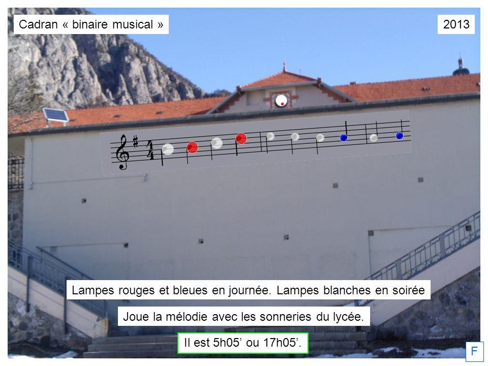 Cadran « binaire musical » 2013