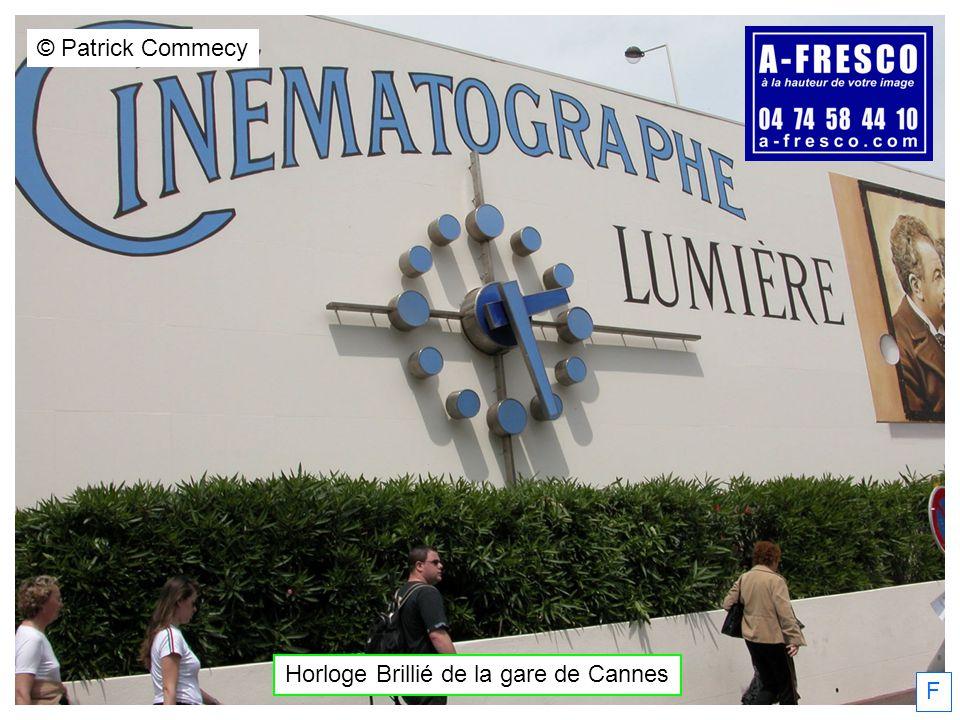 Horloge Brillié de la gare de Cannes