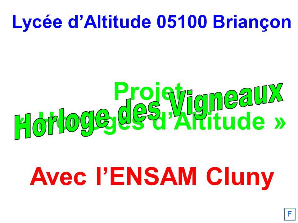Lycée d'Altitude 05100 Briançon « Horloges d'Altitude »