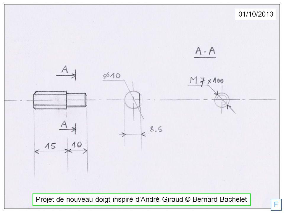 Projet de nouveau doigt inspiré d'André Giraud © Bernard Bachelet