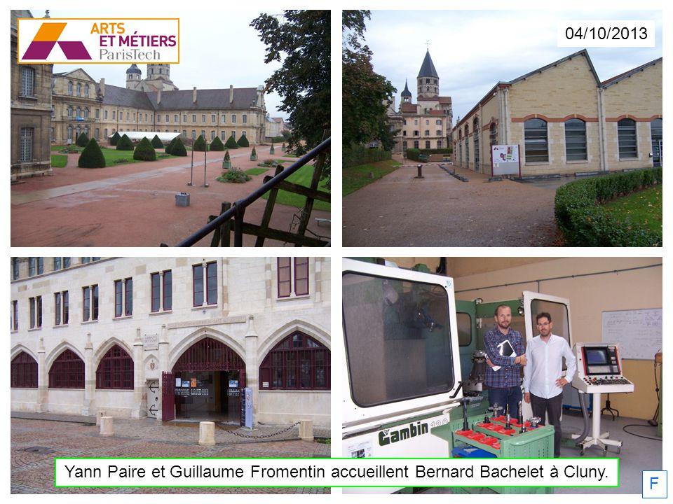 04/10/2013 Yann Paire et Guillaume Fromentin accueillent Bernard Bachelet à Cluny. F