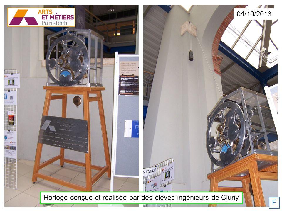 Horloge conçue et réalisée par des élèves ingénieurs de Cluny